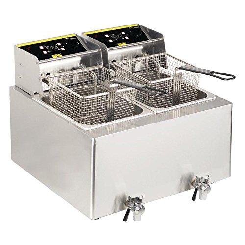 Buffalo doble freidora, 2.9 kW 452 x 550 x 595 mm acero inoxidable cocina Catering: Amazon.es: Industria, empresas y ciencia
