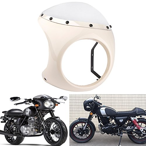 Retro Cafe Racer Style Handlebar Fairing & Screen Universal Fit 7