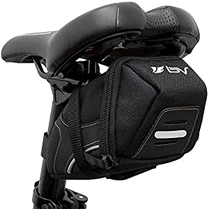 BV Bicycle Y-Series Strap-On Bike Saddle Bag / Bicycle Seat Pack Bag, Cycling Wedge with Multi-Size Options (Medium)