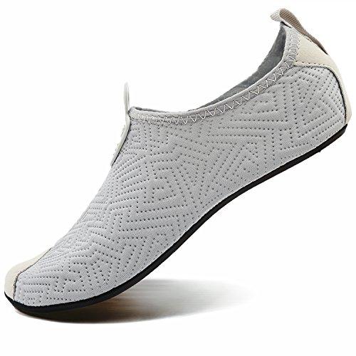 Shoes for Men Women Water Beach Drying Yoga Grey Exercise VIFUUR Shoes Aqua Unisex Quick Pool C RwPn1Xq