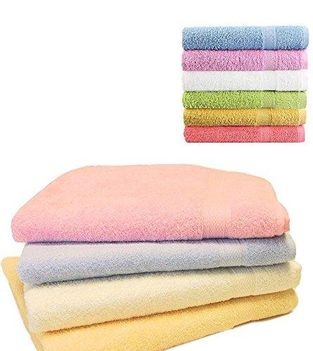 Takestop® Juego de 6 toallas colorate blancas Viso grandes 55 x 95 cm toalla esponja algodón liso baño color aleatorio: Amazon.es: Electrónica
