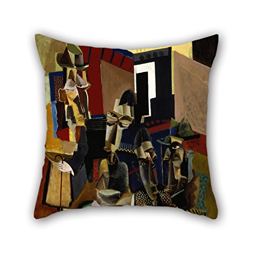 [Oil Painting Max Weber - The Visit Pillow Cases 20 X 20 Inches / 50 By 50 Cm For Bedding,dining Room,kids Room,couch,lounge,pub With 2] (Red Crayon Tank Dress Costume)
