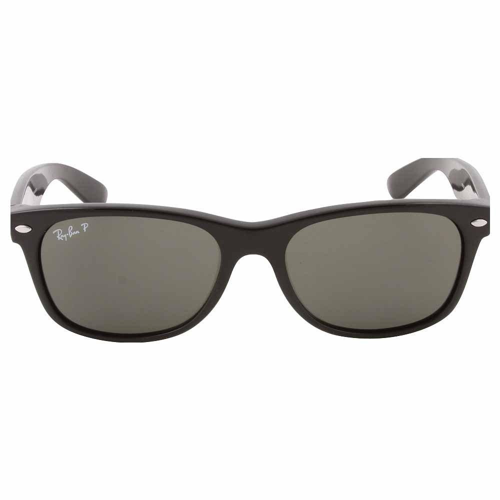 Ray Ban Gafas de sol unisex Rb2132 New Wayfarer 901/58, Black/Green (polarizadas) estructura de plástico, 55 mm: Amazon.es: Ropa y accesorios