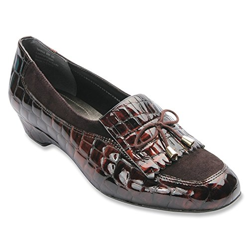 Chaussures Hommerson Patent Marron Loafer Tai Ros Crocodile Brown Femmes Couleur q7FwHHEdgx