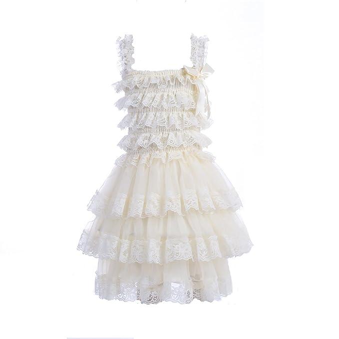 Amazon.com: zcaynger bebé niñas vestido de princesa con ...