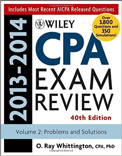 Wiley cpa examination review 2013 2014 problems and solutions wiley cpa examination review 2013 2014 problems and solutions volume 2 volume 2 edition fandeluxe Choice Image