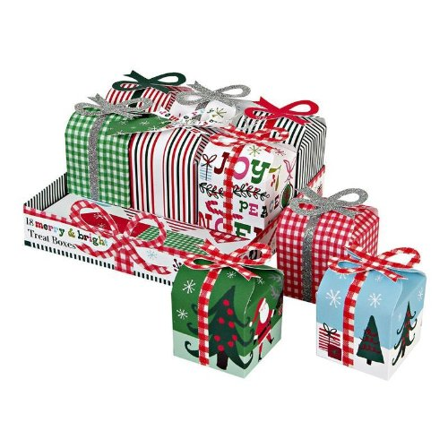 Meri Meri Christmas Merry & Bright Treat Boxes