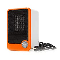 Fincos 220V Portable Personal Ceramic Space Heater Electric Winter Warmer Fan - (Color: OrangeRed)