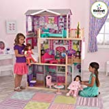 KidKraft Elegant Wooden Doll Manor with 12 Pieces of Furniture for 18'' Dolls