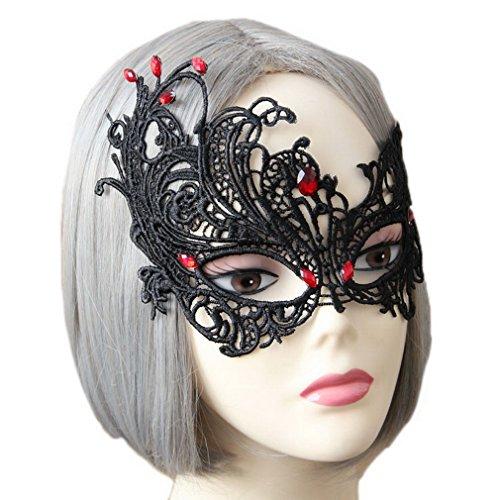 (Xiang Ru Women Gothic Halloween Fancy Costume Cosplay Hollow Eye Mask)