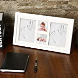 Newborn Baby Handprint and Footprint Picture Frame