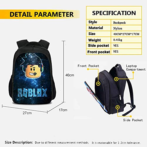 3Pcs Toddler Backpack for Boys with Lunch Bag Pencil Case Kids School Bags Student Bookbag for Girls Teens Game Fans…