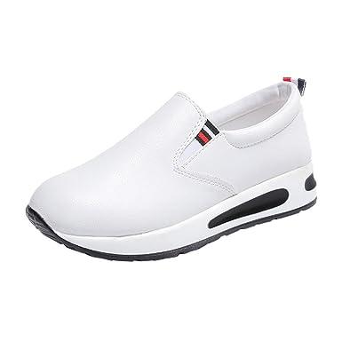 zapatos deportivos mujer, BBestseller Botas planas gruesas para mujer con cordones Zapatillas deportivas de una sola pierna de fondo plano zapatos de mujer: ...