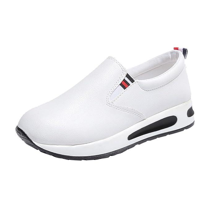 Geilisungren Calzado Deportivo, Zapatos de Plataforma Plana de Cuero, Bajos para Ayudar a los Botines, Zapatos Planos Casuales, Zapatillas de Deporte.