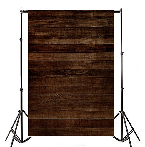 (Vintage Wood Backdrops Yeele 5×7 ft Multi-use Vinyl Retro Brown Board Photography Background Cloth Seamless)