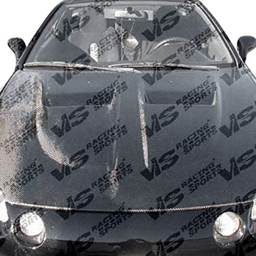 VIS Racing (VIS-VVT-274) Xtreme GT Style Hood Carbon Fiber - Compatible for Honda Del Sol 1993-1997 (1993 1994 1995 1996 1997 | 93 94 95 96 97)
