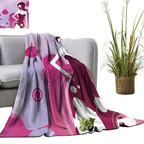 YOYI Blanket as Bedspread A Girl Dressed with