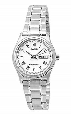 d19663398 Relógio Feminino Analógico Casio LTP-V006D-7BUDF - Prata: Amazon.com ...