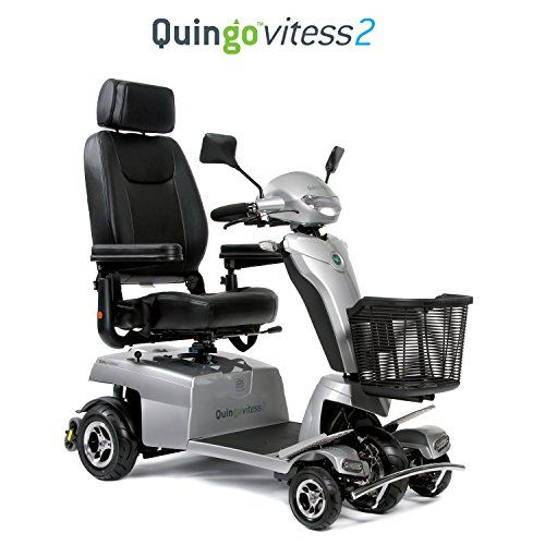 Quingo Vitess 2 Mobility Scooter with 5 Wheel Anti-Tip Stability System; Most Luxurious, Advanced and Powerful Model Perfect for Any Terrain for Maximum - Shopping Online Luxurious