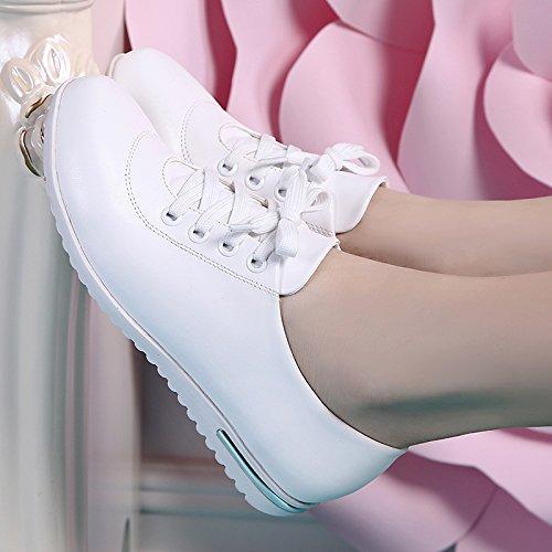 KHSKX-Calzados Deportivo Confort Zapatos Blancos Zapatos De Mujer Antideslizante Cómoda Zapatos Casuales Zapatos De Suela Blanda white
