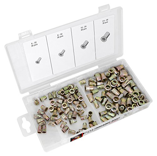 Performance Tool W5251 Rivet Assortment (120pc SAE Threaded) by Performance Tool