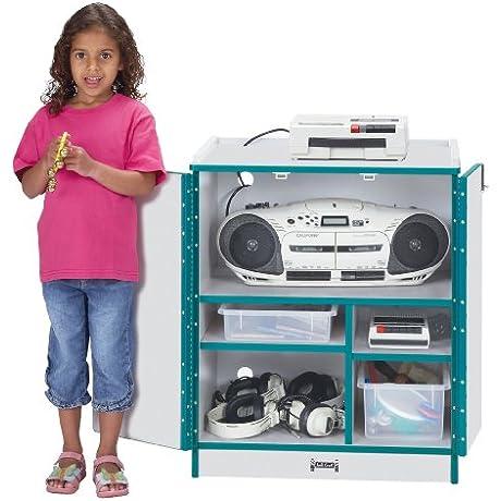 Media Cart Lockable Blue School Play Furniture