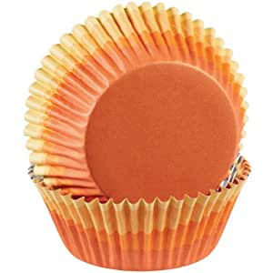 Wilton ColorCup Standard Baking Cups, Orange Ombre, 36-Pack