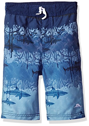 Tommy Bahama Big Boys Microsatin Swim Trunks  Shark Tank  L