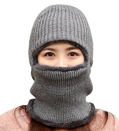 Invierno Gorro Polar Prueba Punto Beanie Forro Gris 1 Hat DELEY Lana De De Hombres Pasamontañas Mujeres Sombrero De A Viento Z4BA84