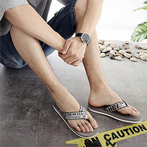Esterno Infradito Impermeabile Da Gray Estiva Leggero In Casual Per Confortevole Suole Uomo E Pelle Microfibra Scarpe Pantofole Z7vwZ