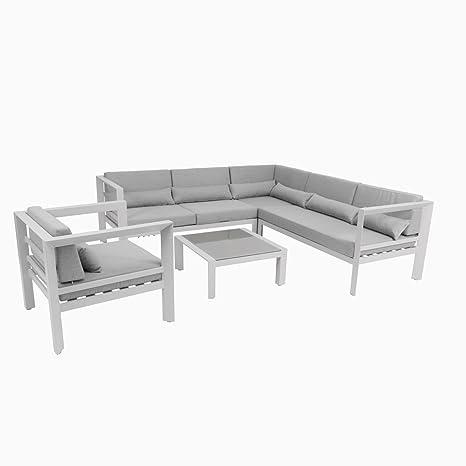 greemotion Salon de jardin aluminium Stockholm - Salon de ...