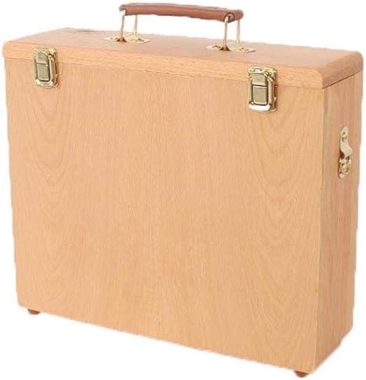 Caja De Almacenamiento PortáTil, Caja De Almacenamiento De Tablero De Pintura Al óLeo, Caja De Pintura Al óLeo De Olmo, Caja De Almacenamiento De Pintura, S/L Opcional: Amazon.es: Hogar
