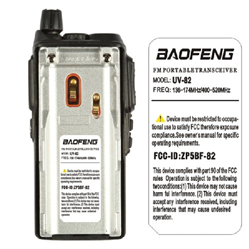 BaoFeng UV-82C Dual-Band 136-174/400-520 MHz FM Ham Two-Way Radio, Transceiver, HT with Battery, Earpiece, Antenna, Charger by BTECH (Image #2)
