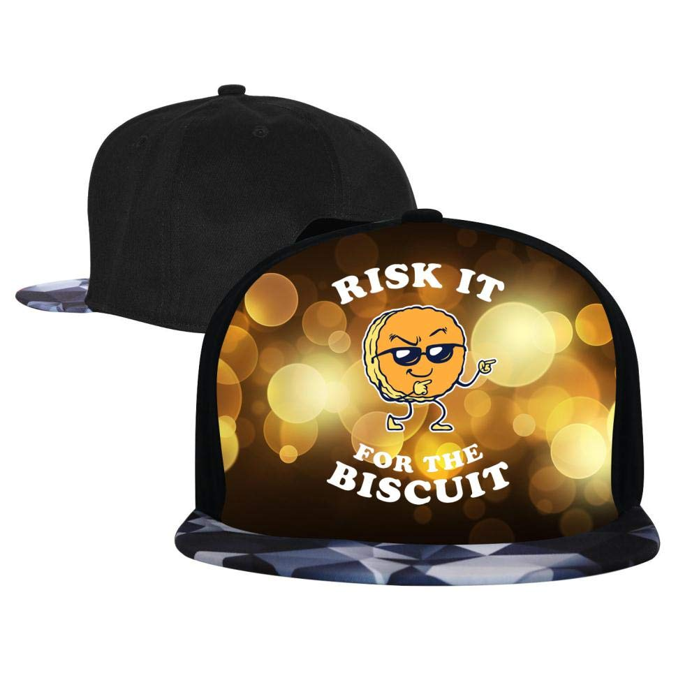 EUYK77 Risk It for The Biscuit Mens and Womens Trucker Hats Adjustable Hip Hop Flat-Mouthed Baseball Caps