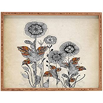 Deny Designs Iveta Abolina Floral 3 Indoor//Outdoor Rectangular Tray 14 x 18