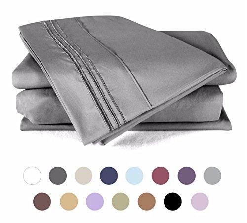 Bed Sheet Set , 100% Double Brushed Softest 4pcs 1800 Microf
