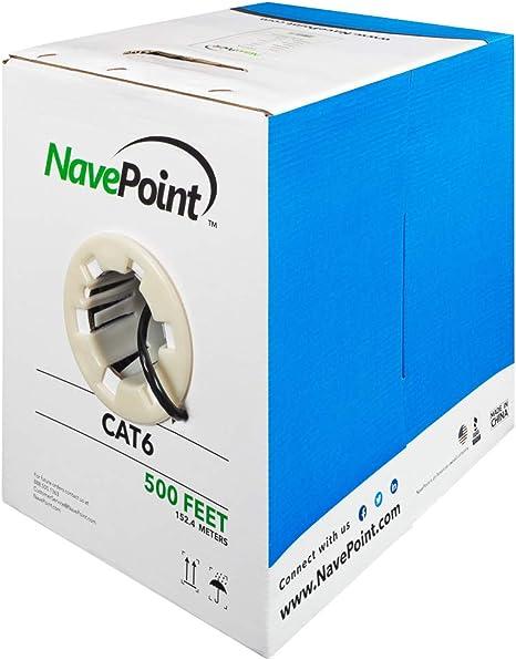 500ft cat6 UL Listed UTP BLUE Cable Network LAN RJ45 Pull Box 500 FT CCA