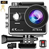 ACTMAN Action Camera 4K Touch Screen 16MP Sony Sensor Underwater Waterproof Camera WiFi Sports CAM with Remote Control 2 Batteries and Mounting Accessories Kit
