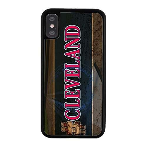 Cleveland Indians Case - BleuReign Hashtag Cleveland #Cleveland Baseball Team Rubber Phone Case for Apple iPhone X Xs Ten