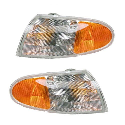 Marker Signal Blinker Corner Parking Light Lamp Pair Set for 95-97 Ford Contour