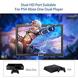 EYOYO 10 Inch 2K IPS Gaming Monitor, 2560x1600 High Resolution with Dual HDMI Input Built-in Speakers For PC Camera PS2 PS3 PS4 Xbox One Xbox360