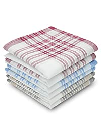Men's Handkerchiefs 100% Cotton Classic Hankies 6 pieces set