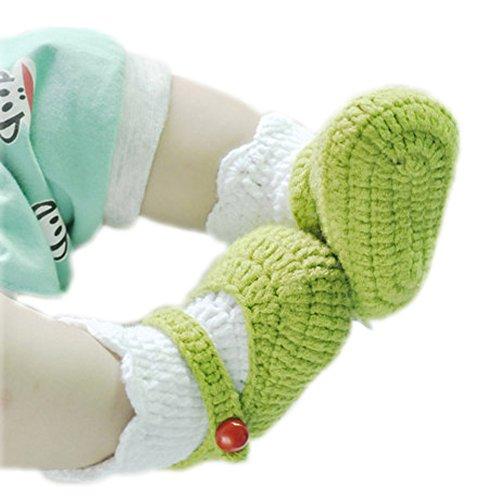 Bébé Crochet Fait Main Chaussures d'hiver tricoté Chaussettes Chaussons pour bébé cadeau souvenir