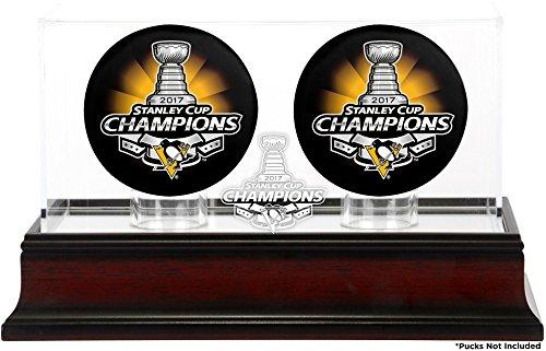 penguins hockey puck display case - 9