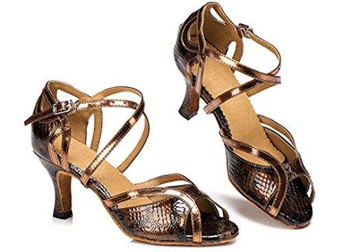 Brown Donna Ballerine 5cm 7 Joymod MGM Heel qAtT7PWn