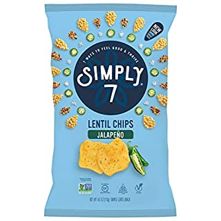 Simply 7 Lentil Chips, Jalapeno, 4 Ounce (Packaging May Vary)