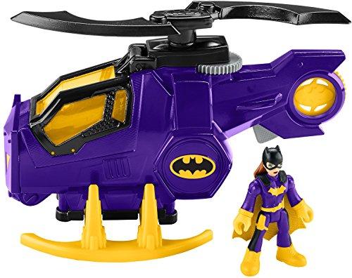 Fisher-Price Imaginext DC Super Friends Legends of Batman, Batgirl Helicopter Figures, Multi Color ()