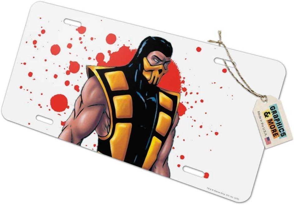Graphics and More Mortal Kombat Klassic Scorpion Character Novelty Metal Vanity Tag License Plate