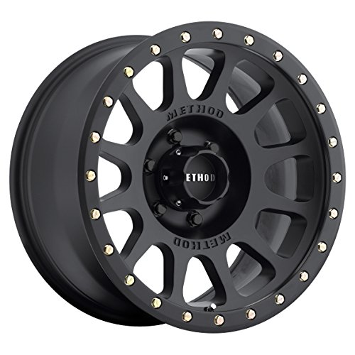 (Method Race Wheels NV Matte Black Wheel with Zinc Plated Accent Bolts (17x8.5