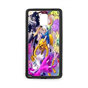 Wlicke Adventure Time Cartoon Custom Durable samsung galaxy note4 Case, New Fashion Protective Cove Case for samsung galaxy note4 with Adventure Time Cartoon